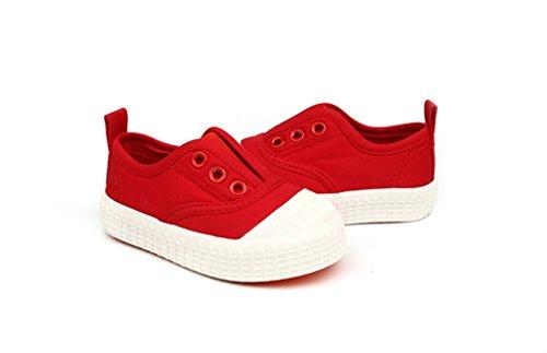 ALUK- Zapatos de bebé - zapatos de lona de los niños Aprenda los zapatos perezosos Zapatos ocasionales ( Color : Rojo , Tamaño : 30 ) Rojo