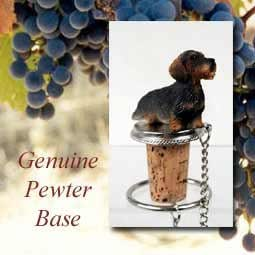 Wirehaired Dachshund Wine Bottle Stopper from Conversation Concepts