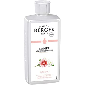 Paris Chic | Lampe Berger Fragrance Refill by Maison Berger | for Home Fragrance Oil Diffuser | Purifying and perfuming Your Home | 16.9 Fluid Ounces - 500 milliliters | Made in France