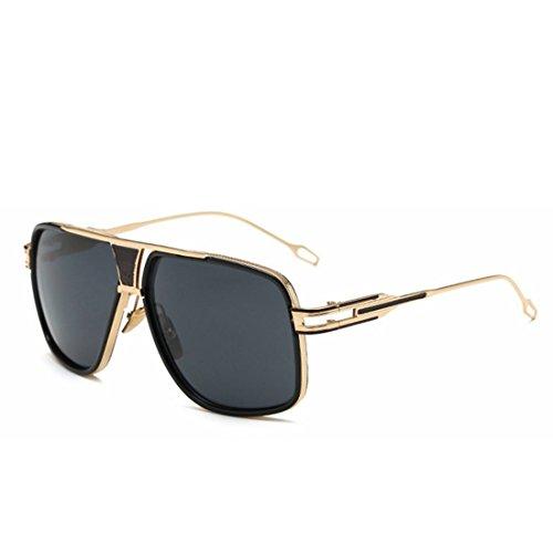 Femmes UV Lunettes pour Hommes Mirror De Gold Sakuldes Soleil Aviator Polarized Color Black Protection Metal 400 c7wygTqC