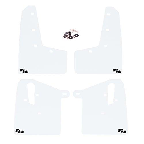And Logo White Black (RokBlokz Mud Flaps for 2015+ Subaru WRX STI - Multiple Colors Available - Includes All Mounting Hardware (White with Black Logo, Original))