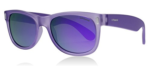 Polaroid Sunglasses Boys' P0115s Polarized Rectangular Sunglasses, CRYSRUBPU, 46 mm