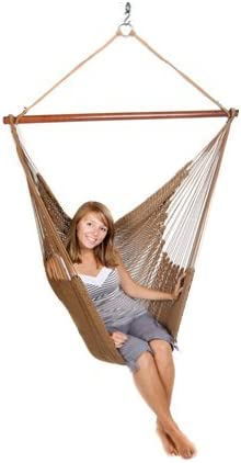 Green Mountain Hammocks - Hanging String Chair - 400 lb Capacity, 100% Recycled Fabric, Durable, Lightweight - Brown Model