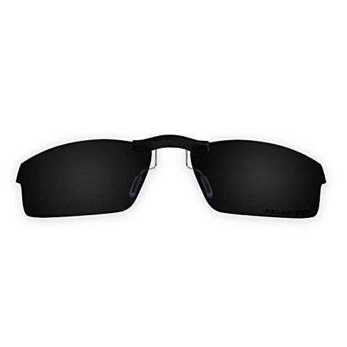 Custom Polarized Clip On Sunglasses for Oakley Crosslink OX8027 53x17(No  Frame) Black c08a54a0ee55