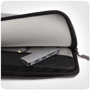 IBROCC USB C Adapter,USB C Hub HDMI Output, SD microSD Card Readers, 2 USB 3.0 Ports MacBook Pro 2017/2016, Google Chromebook Pixel, Samsung S8/S8 Plus -Gray by IBROCC (Image #8)