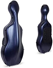 Crossrock Poly Carbon Composite Case fits for 4/4 Size Cello with Backpack and Wheels in Blue(CRF102CEFBLHT) (CRF1020CEFBLHT)