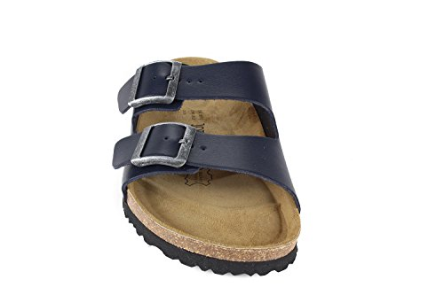 Footbed JOYCE Sandals London Nappa Soft Blue N Unisex Normal Width JOE Ywq5gTx