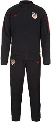 Nike 2015-2016 Atletico Madrid Chándal para (Negro) Negro Negro ...