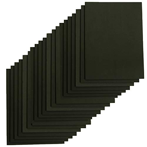 Houseables Crafts Foam Sheets, Art Supplies, EVA, 6mm Thick, Black, 9 X 12 Inch, 20 Pack, Paper Scrapbooking, Cosplay, Crafting Foams Paper, Foamie Crafts, for Kids, Boy Souts, Halloween, Cushion