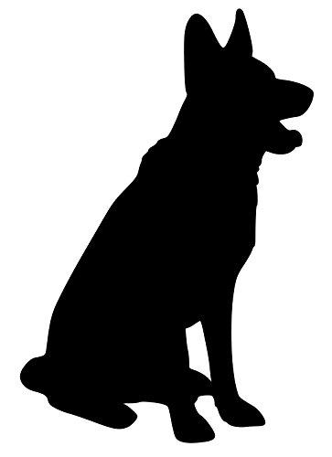 Minglewood Trading German Shepherd Dog Black Vinyl Decal Sticker 5
