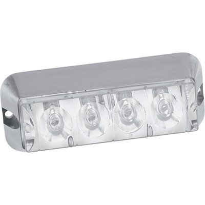 Self Contained Strobe - Custer Products STRL4W 4In Clear Flush Mount Self Contained Strobe, Solid And Strobe, 3 Wire