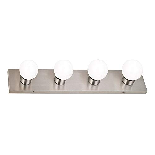 Design House 519298 4 Light Vanity Light, Satin Nickel