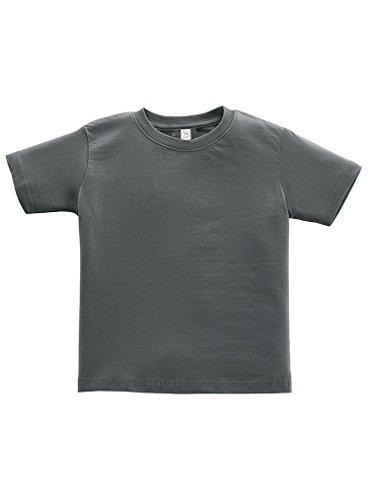 Rabbit Skins 100% Cotton Blank Toddler Football Jersey Tee [Size 4T] Charcoal Gray Short Sleeve T-Shirt