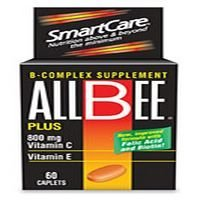 Allbee B-Complex Supplement 800mg With Vitamin C and E 60 Caplets each For Sale