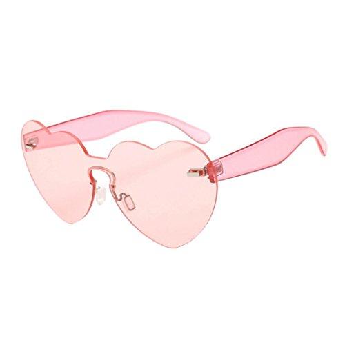 b11bd70185 Sunday Gafas de Sol Con Forma De Corazón Mujeres Gafas de Color Caramelo  integradas Gafas Sol