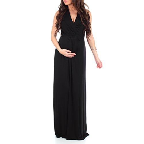 maternity dress black tie - 3