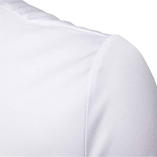 Camicetta Maglione Qinsling Cappuccio Dolcevita Tops Elegante Con Hoodie Cerniera Distintivo Felpa Classico Lunghe Collo Maniche Sweatshirt Bianca J Inverno Cappotto Uomo UwvrqU6