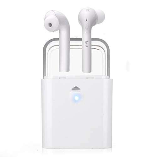 Wireless Earbuds,Fantime Bluetooth 5.0 Wireless Sports Headphones with Portable Charging Box Noise Cancelling Headset, IPX5 Waterproof, HD Stereo Sound in Ear Earphone, Built-in Anti-Noise Microphone