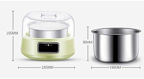 SCJ Machine à yogourt Automatique - Machine à yogourt Domestique à revêtement en Acier Inoxydable, Affichage à LED, très approprié pour bébé Biologique, Enfants
