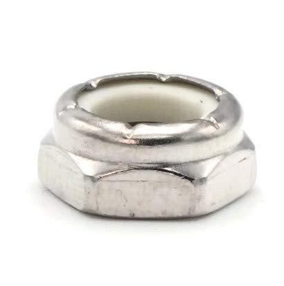 Nylon Hex Jam Lock Nut Nylock 18-8 Stainless Steel - 5/16-24 (.502 Flats x .158 Height) ty-100