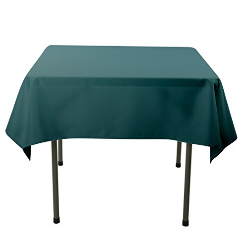 E-TEX 70x70-Inch Polyester Square Tablecloth Hunter Green