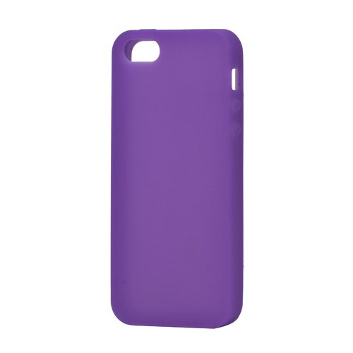 iProtect Silikon Schutzhülle iPhone 5 / 5S Soft Case weich lila