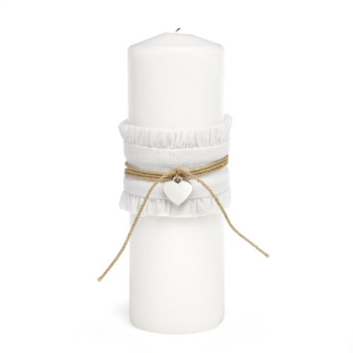 Charm Wedding Unity Candle - Hortense B. Hewitt Rustic Romance Wedding Accessories, Unity Pillar Candle, 9-Inch
