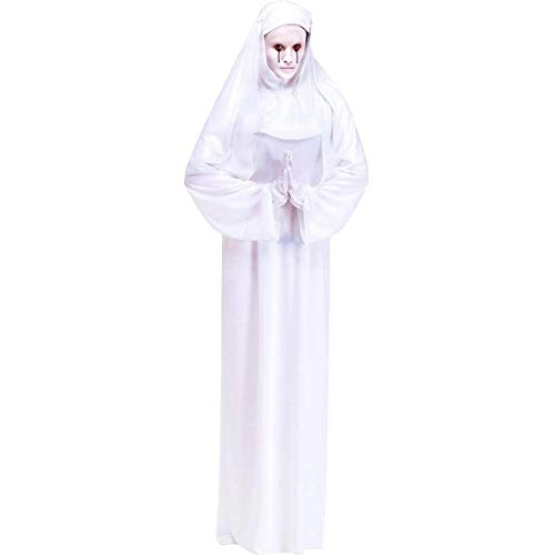 Scary Mary White Nun Adult Costume -