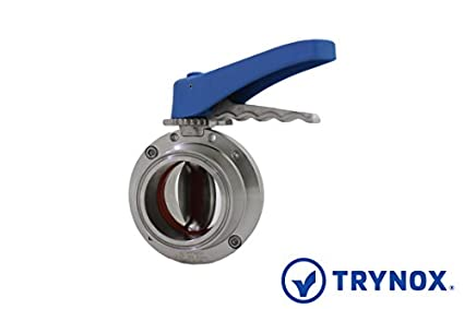 Trynox Clamp Sanitary Stainless Steel Butterfly Valve Viton Seal 304 1 Tri clamp Sanitary Fitting