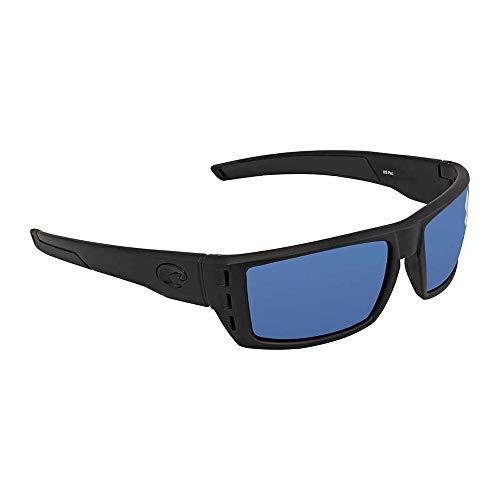 Costa Del Mar Rafael Sunglasses, Blackout, Blue Mirror 580 Plastic Lens