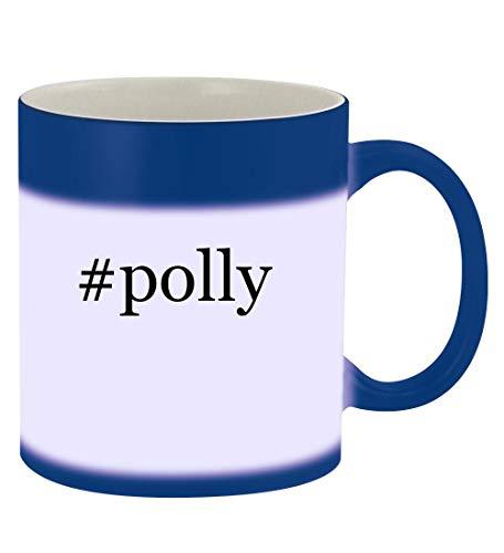 (#polly - 11oz Hashtag Magic Color Changing Mug, Blue)
