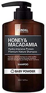 KUNDAL Honey&Macadamia Hydro-Intensive Protein Premium Nature Shampoo (BABY POWDER) 500ml