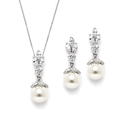 (Mariell Light Ivory Pearl Drop Vintage Bridal & Wedding Jewelry Set, Great for Everyday Wear and)