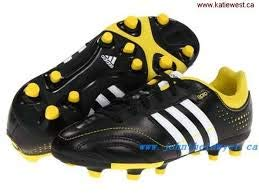 adidas 11Nova TRX FG J Youth Soccer Cleat Black//Yellow//White Size 5.5