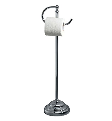 Essentials Freestanding Toilet Paper Holder Finish: Polished Nickel by Valsan