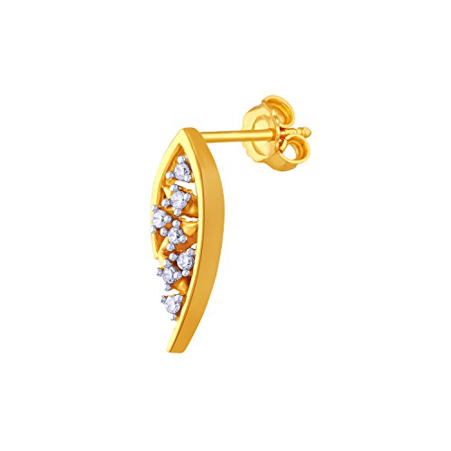 Giantti 14 carats Diamant pour femme Boucles d'oreille à tige (0.1858 CT, VS/Si-clarity, Gh-colour)