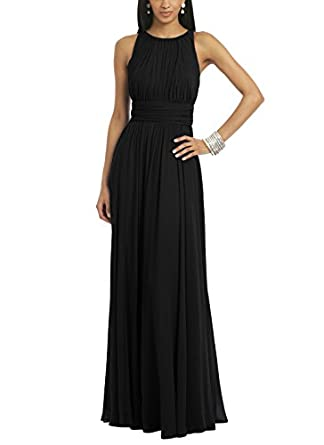 Ssyiz Women's Elegant Pleated Chiffon Floor Length Evening Party ...