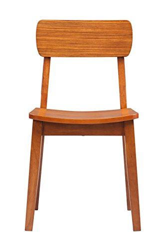 Boraam 33312 Zebra Series Hagen Dining Chair, Honey Oak, Set of -