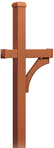 Designer Roadside Mailbox - Salsbury Industries 4370D-COP Deluxe Post 1 Sided In-Ground Mounted for Designer Roadside Mailbox, Copper