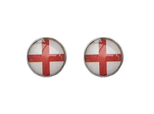 St George Ring (England 8mm St George's Stainless Steel Earrings)