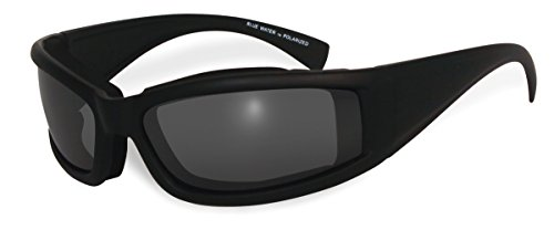 BluWater Floating 5 Polarized Sunglasses with Neoprene Foam, Smoke Lens, Matte Black Frame by BluWater Polarized
