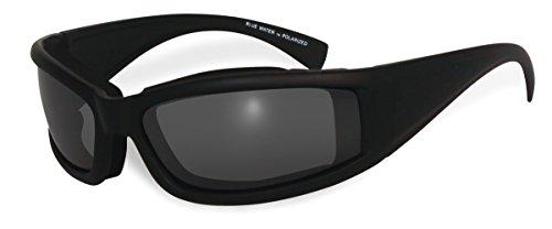 BluWater Floating 5 Polarized Sunglasses with Neoprene Foam, Smoke Lens, Matte Black Frame by BluWater Polarized