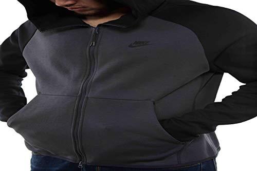 Sportswear Negro Anthracite Sudadera Nike Black Fleece Hombre Tech EHZXwFxxq