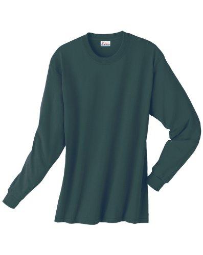 Hanes Comfortsoft Long Sleeve T-Shirt - DEEP FOREST - Large - 2004 Green T-shirt