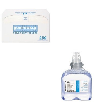 KITBWKK5000GOJ538502 - Value Kit - PROVON 5385-02 Foam Handwash with Advanced Moisturizers, Cranberry Scent (GOJ538502) and Boardwalk Premium Half-Fold Toilet Seat Covers ()