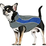 Kakadu Pet Explorer Nylon Fleece Reflective Dog Coat, 10″, Sea (Blue), My Pet Supplies