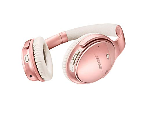 Bose QuietComfort 35 II Wireless Bluetooth Headphones, Noise-Cancelling, with Alexa voice control, enabled with Bose AR – Rose Gold (Renewed)