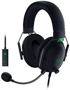 Razer BlackShark V2 Gaming Headset: THX 7.1 Spatial Surround Sound - 50mm Drivers - Detachable Mic - PC, PS4, PS5, Switch, Xbox One, Xbox Series X & S, Mobile - 3.5 mm Audio Jack & USB DAC - Black