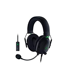 Razer BlackShark V2 Gaming Headset: THX 7.1 Spatial Surround Sound – 50mm Drivers – Detachable Mic – PC, PS4, PS5, Switch, Xbox One, Xbox Series X & S, Mobile – 3.5 mm Audio Jack & USB DAC – Black