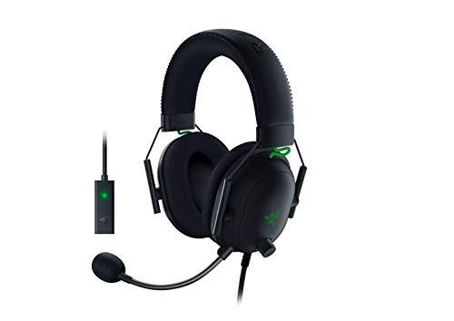 Razer BlackShark V2 Gaming Headset: THX 7.1 Spatial Surround Sound – 50mm Drivers – Detachable Mic – PC, PS4, PS5…